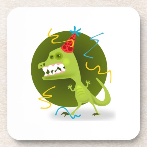 Dibujo animado del monstruo del fiesta posavaso