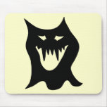 Dibujo animado del monstruo, negro alfombrillas de ratones