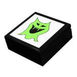 Dibujo animado del monstruo. Verde y negro Caja De Joyas