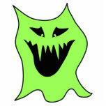 Dibujo animado del monstruo. Verde y negro Esculturas Fotograficas