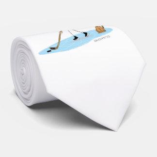 Dibujo animado del muchacho del hockey corbatas