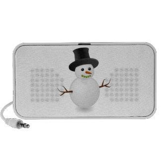 Dibujo animado del muñeco de nieve iPhone altavoz