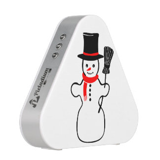 Dibujo animado del muñeco de nieve altavoz