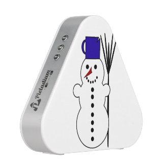 Dibujo animado del muñeco de nieve altavoz bluetooth