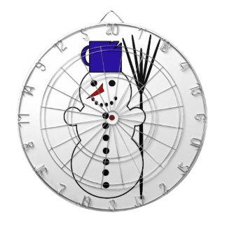 Dibujo animado del muñeco de nieve tablero de dardos