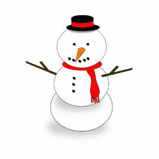 Dibujo animado del muñeco de nieve esculturas fotográficas