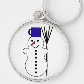 Dibujo animado del muñeco de nieve llavero personalizado