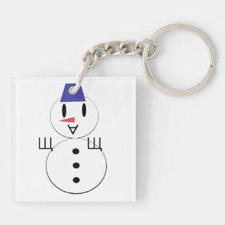 Dibujo animado del muñeco de nieve llaveros