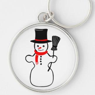 Dibujo animado del muñeco de nieve llavero