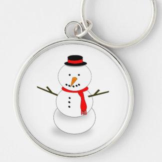 Dibujo animado del muñeco de nieve llaveros personalizados