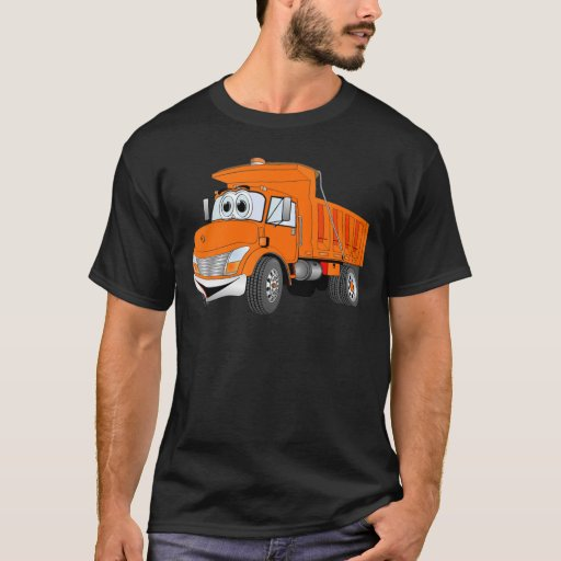 Dibujo animado del naranja del árbol del camión playera