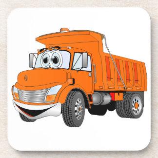 Dibujo animado del naranja del árbol del camión vo posavasos de bebidas