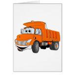 Dibujo animado del naranja del árbol del camión vo tarjetón