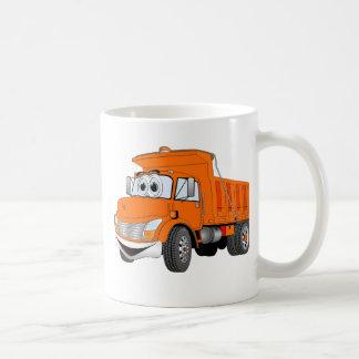 Dibujo animado del naranja del árbol del camión vo taza
