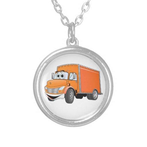 Dibujo animado del naranja del camión de reparto grimpolas personalizadas
