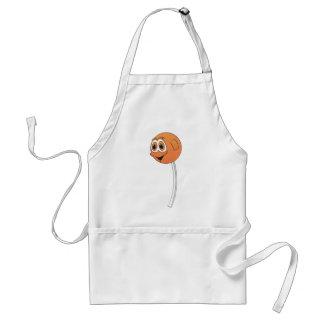 Dibujo animado del naranja del Lollipop Delantal