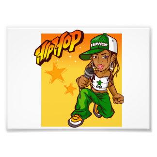 dibujo animado del naranja del verde del chica del cojinete