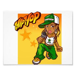 dibujo animado del naranja del verde del chica del fotografía
