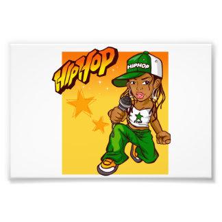 dibujo animado del naranja del verde del chica del fotografías