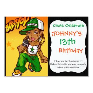"""dibujo animado del naranja del verde del chica del invitación 5"""" x 7"""""""