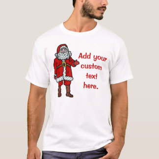 Dibujo animado del navidad de Papá Noel Playera