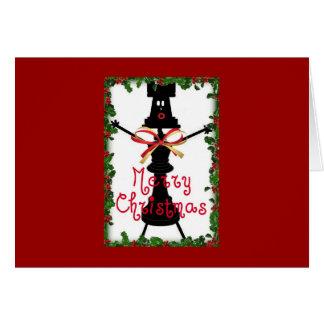 Dibujo animado del navidad del ajedrez tarjeta de felicitación