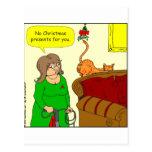 dibujo animado del navidad del muérdago del postal