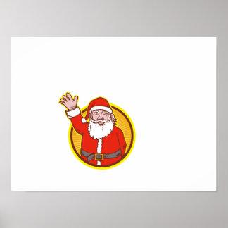 Dibujo animado del navidad del padre de Papá Noel Posters