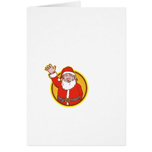 Dibujo animado del navidad del padre de Papá Noel Tarjeta De Felicitación