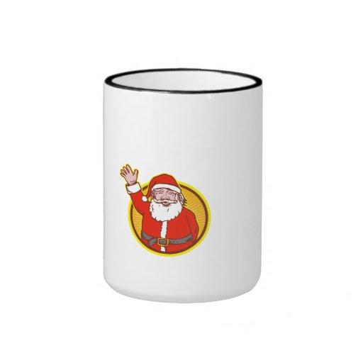 Dibujo animado del navidad del padre de Papá Noel Taza De Café
