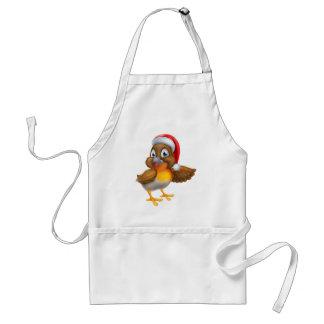 Dibujo animado del navidad del pájaro del delantal