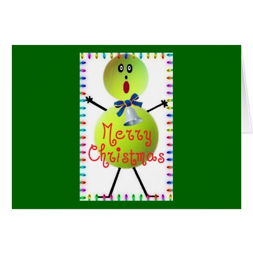 Dibujo animado del navidad del tenis tarjeta de felicitación