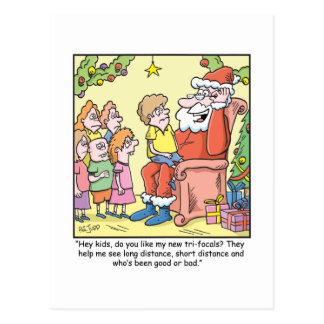 Dibujo animado del navidad sobre los nuevos tarjeta postal