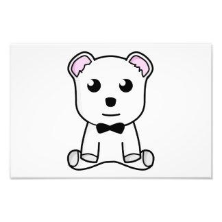 Dibujo animado del oso blanco impresiones fotograficas