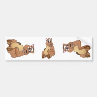 Dibujo animado del oso de Brown Pegatina Para Auto