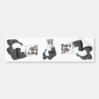 Dibujo animado del oso de panda pegatina para auto
