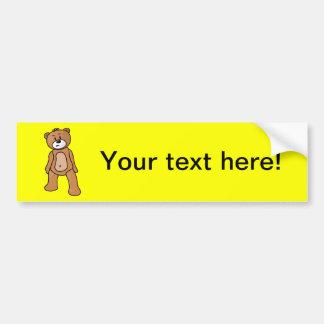 Dibujo animado del oso de peluche etiqueta de parachoque