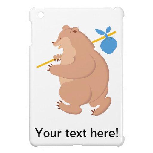 Dibujo animado del oso iPad mini cobertura