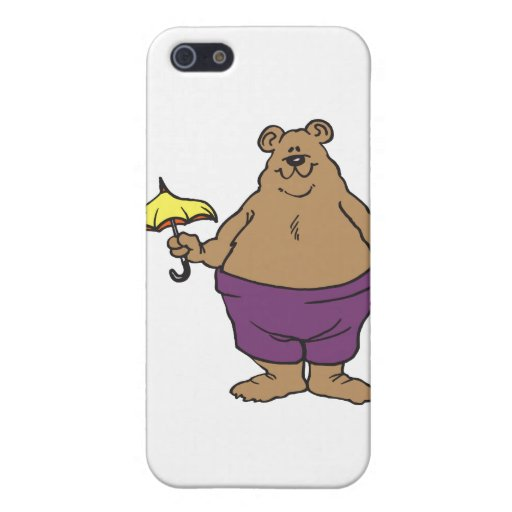 Dibujo animado del oso iPhone 5 cobertura