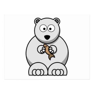 Dibujo animado del oso polar tarjeta postal