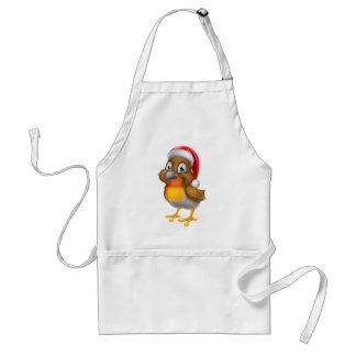 Dibujo animado del pájaro del navidad del delantal