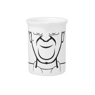 Dibujo animado del papa jarra para bebida
