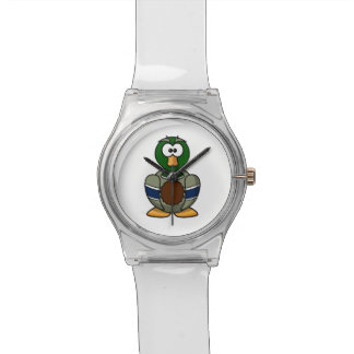 Dibujo animado del pato del pato silvestre reloj