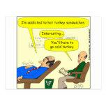 dibujo animado del pavo frío 444 postal