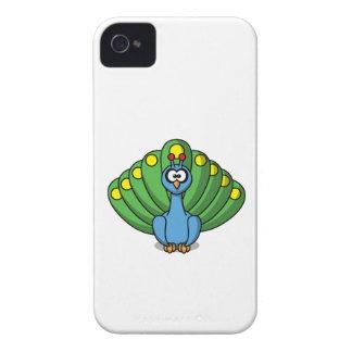 Dibujo animado del pavo real iPhone 4 cárcasa