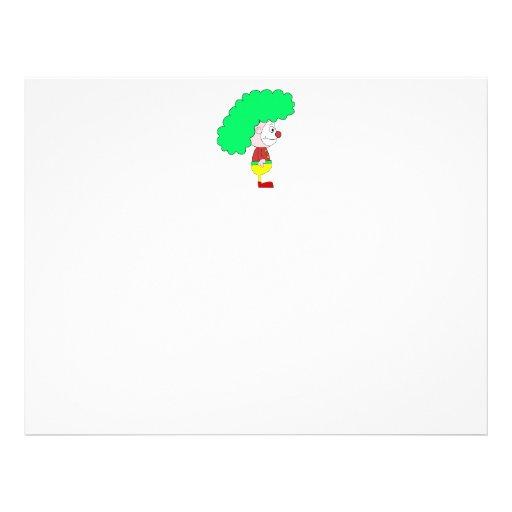 Dibujo animado del payaso. Amarillo, rojo y verde Flyer A Todo Color