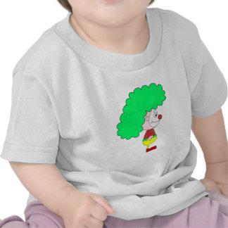 Dibujo animado del payaso. Amarillo, rojo y verde Camiseta