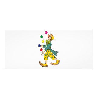 Dibujo animado del payaso diseños de tarjetas publicitarias