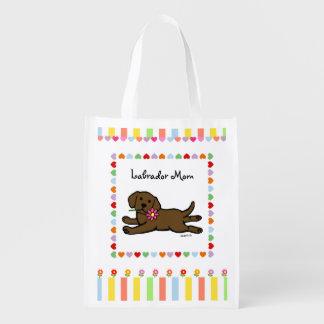 Dibujo animado del perrito de Labrador del Bolsa Para La Compra