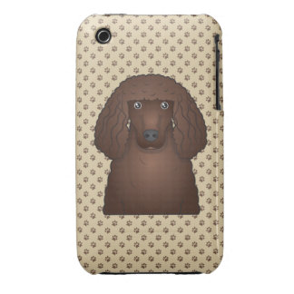 Dibujo animado del perro de aguas de agua irlandes Case-Mate iPhone 3 funda